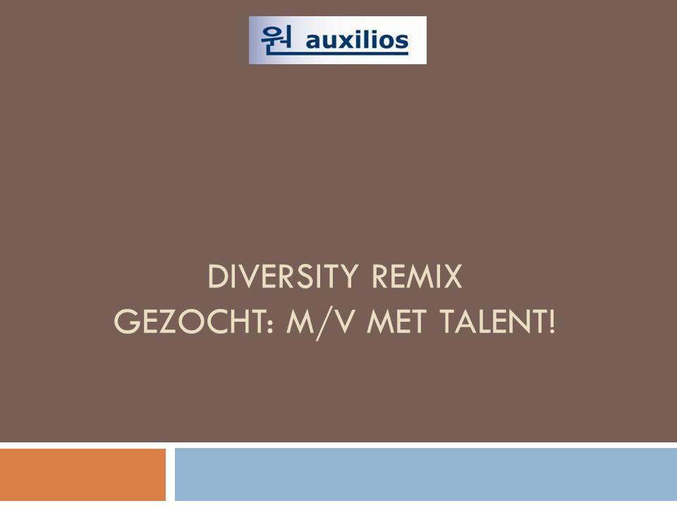 DIVERSITY REMIX GEZOCHT: M/V MET TALENT!