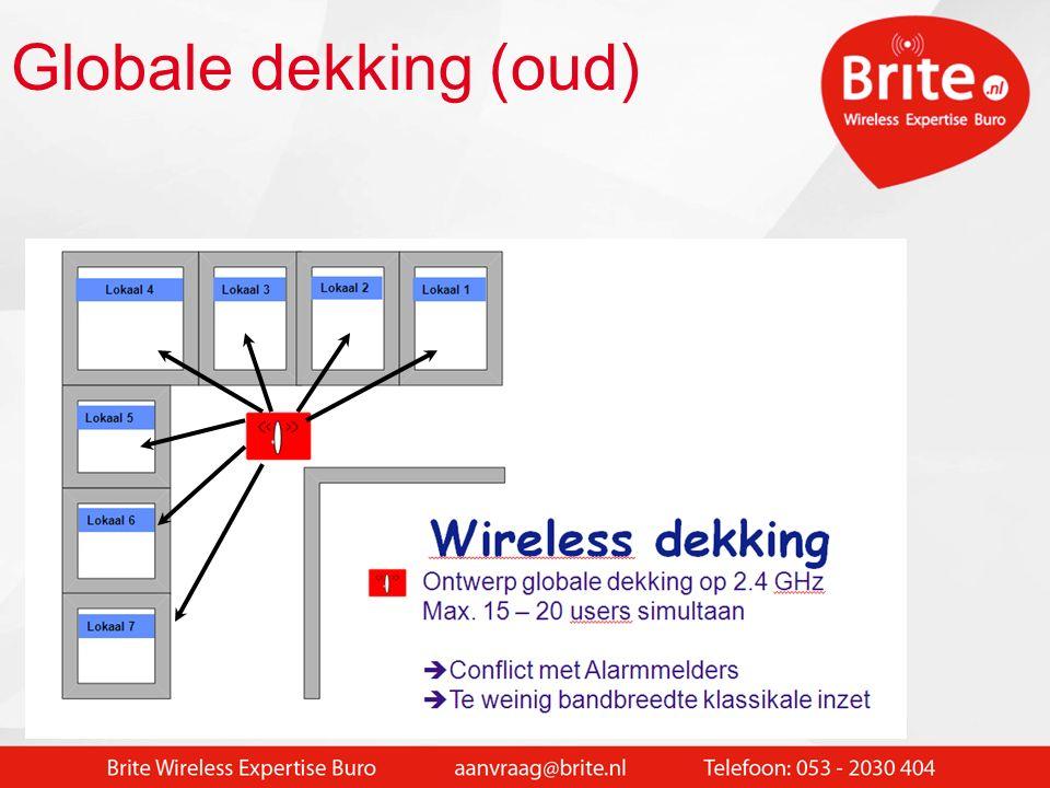 Intro WIFI in de School Wat willen we bereiken: Flexibel draadloos netwerk in de hele school Snel en probleemloos inloggen op wireless netwerk Voldoende snelheid voor edu applicaties (video / geluid) Geen extra beheer aan wireless netwerk