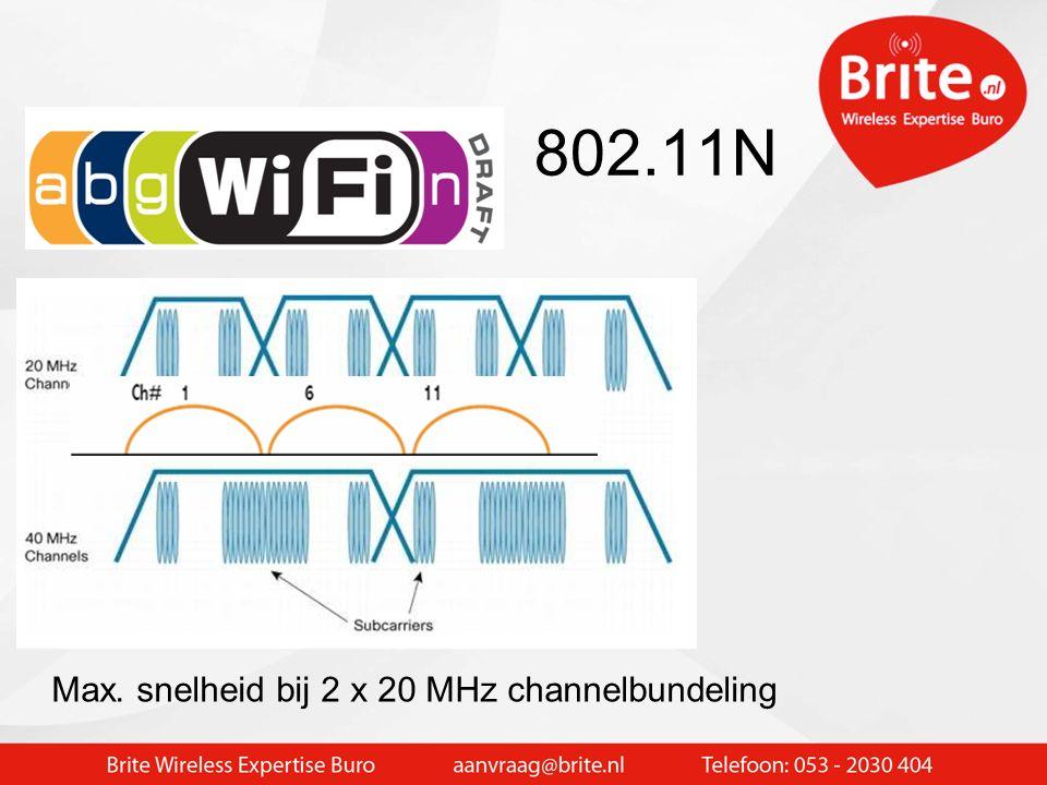 802.11N Groter bereik met 802.11n Vooral veel sneller !!! 300 Mbit wireless