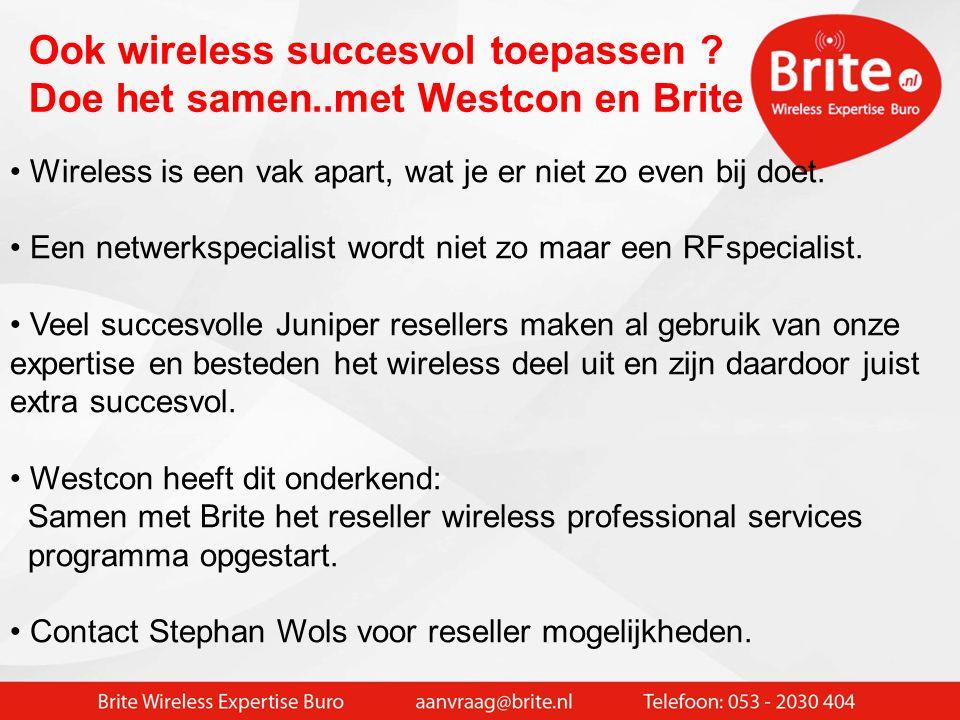 BYOD device succesvol toepassen Wireless inmeten bij de klant op locatie Gedegen ontwerp voor (V)LAN en Wireless netwerk Keuze voor de juiste clientde