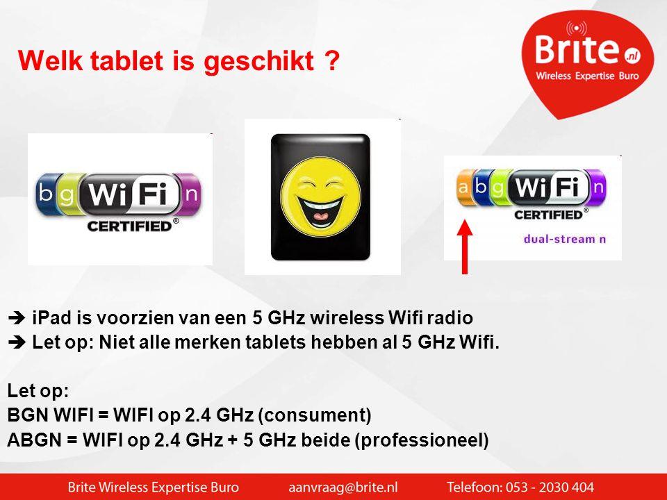 Niet alleen notebooks. De tablet wordt steeds meer toegepast De tablet werkt alleen wireless !!