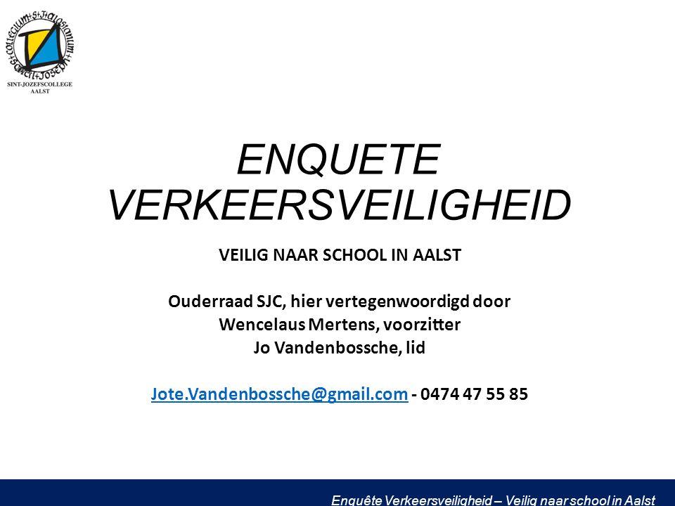 Enquête Verkeersveiligheid – Veilig naar school in Aalst Reden gevaar - Capucienen