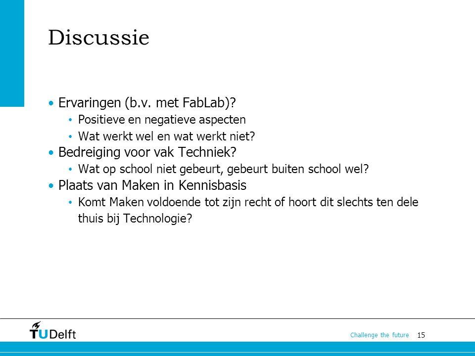 15 Challenge the future Discussie Ervaringen (b.v.