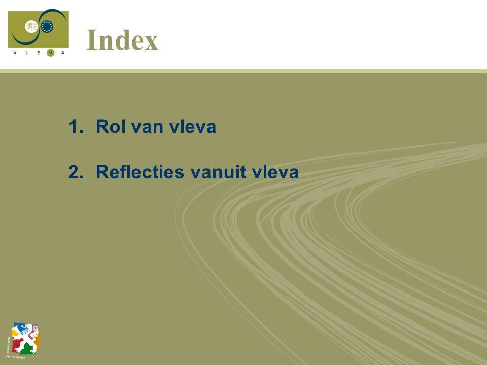 Index 1.Rol van vleva 2.Reflecties vanuit vleva