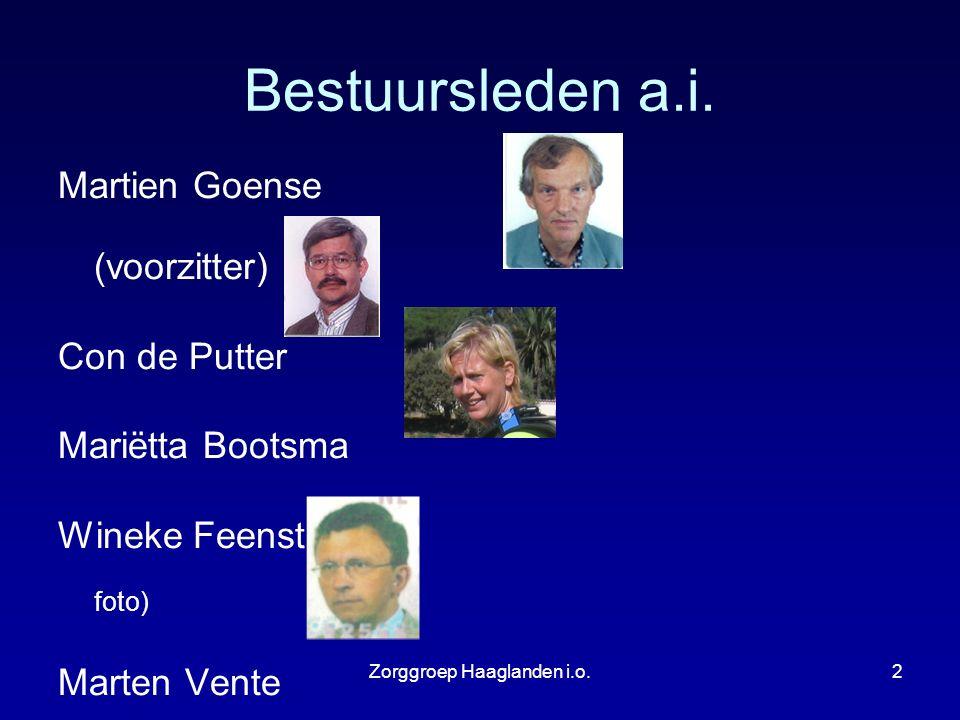 Zorggroep Haaglanden i.o.3 Missie en Visie ZGH i.o.