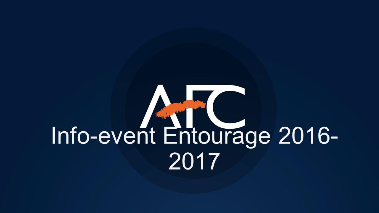 Info-event Entourage 2016- 2017
