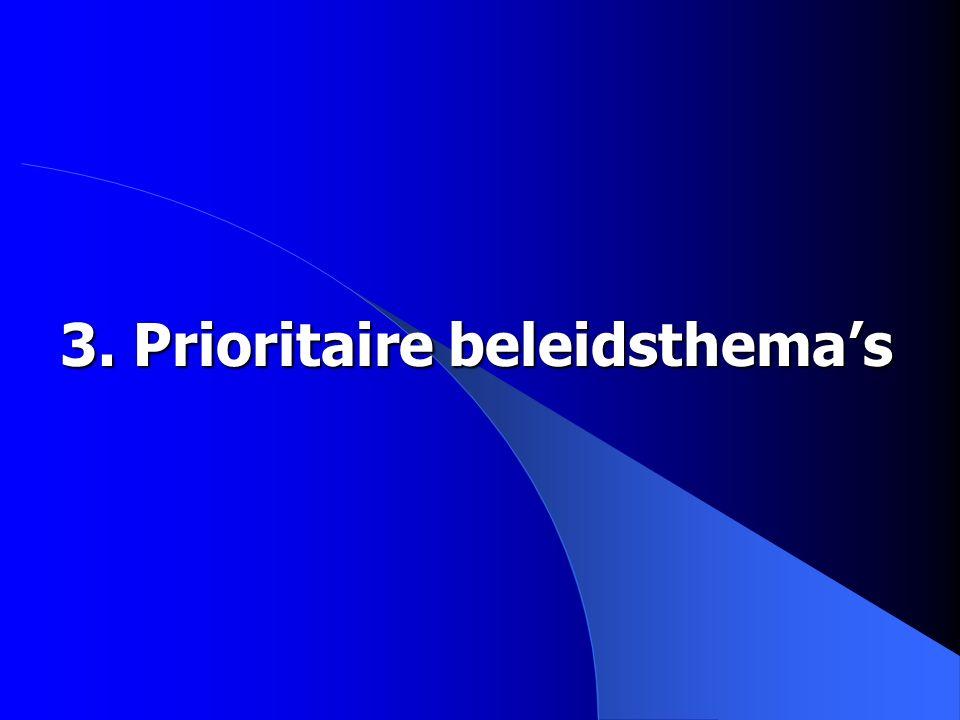 3. Prioritaire beleidsthema's