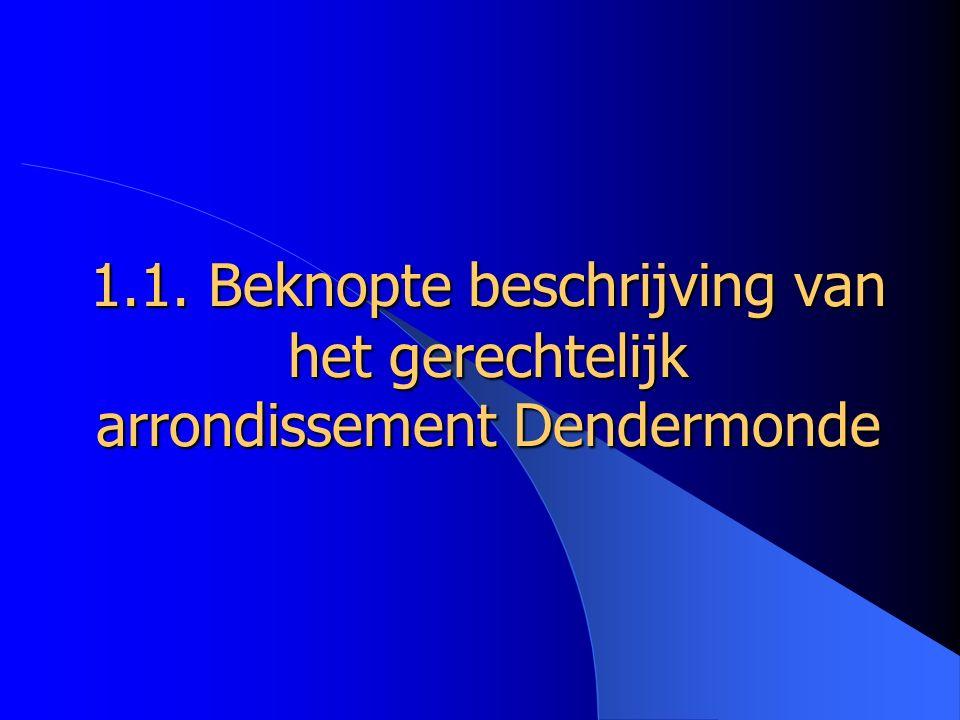 1.1. Beknopte beschrijving van het gerechtelijk arrondissement Dendermonde