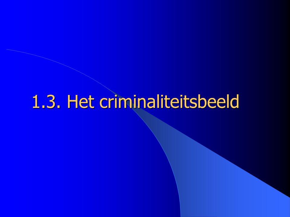 1.3. Het criminaliteitsbeeld