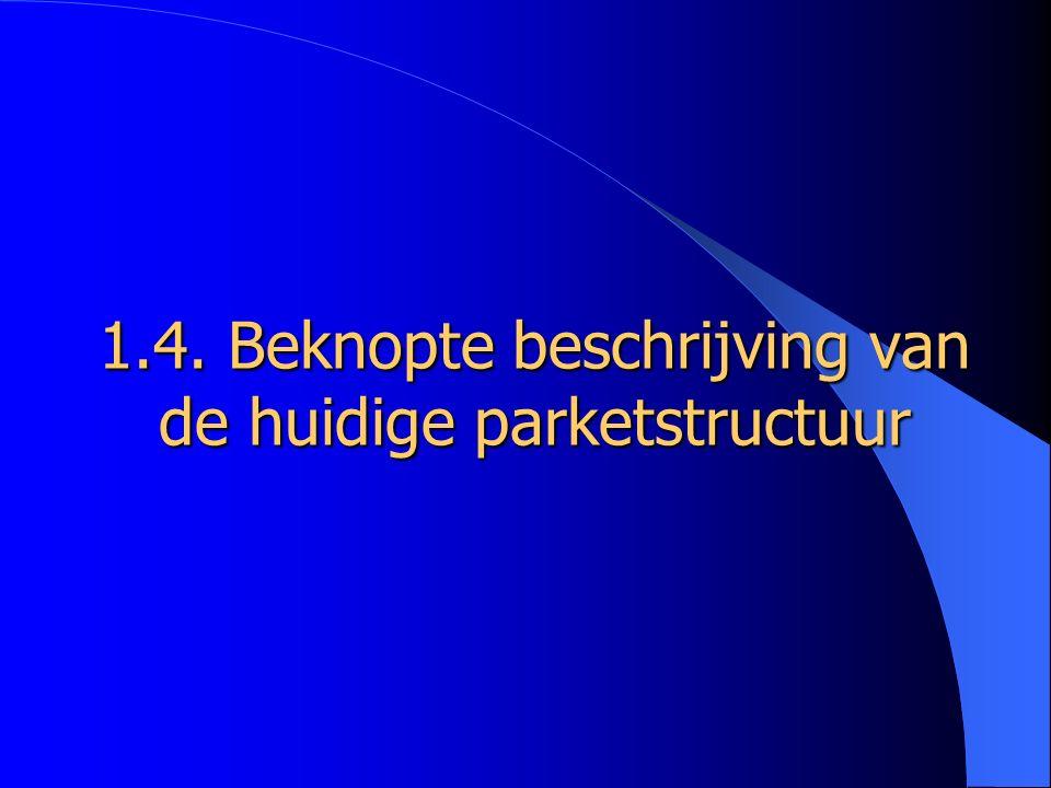 1.4. Beknopte beschrijving van de huidige parketstructuur