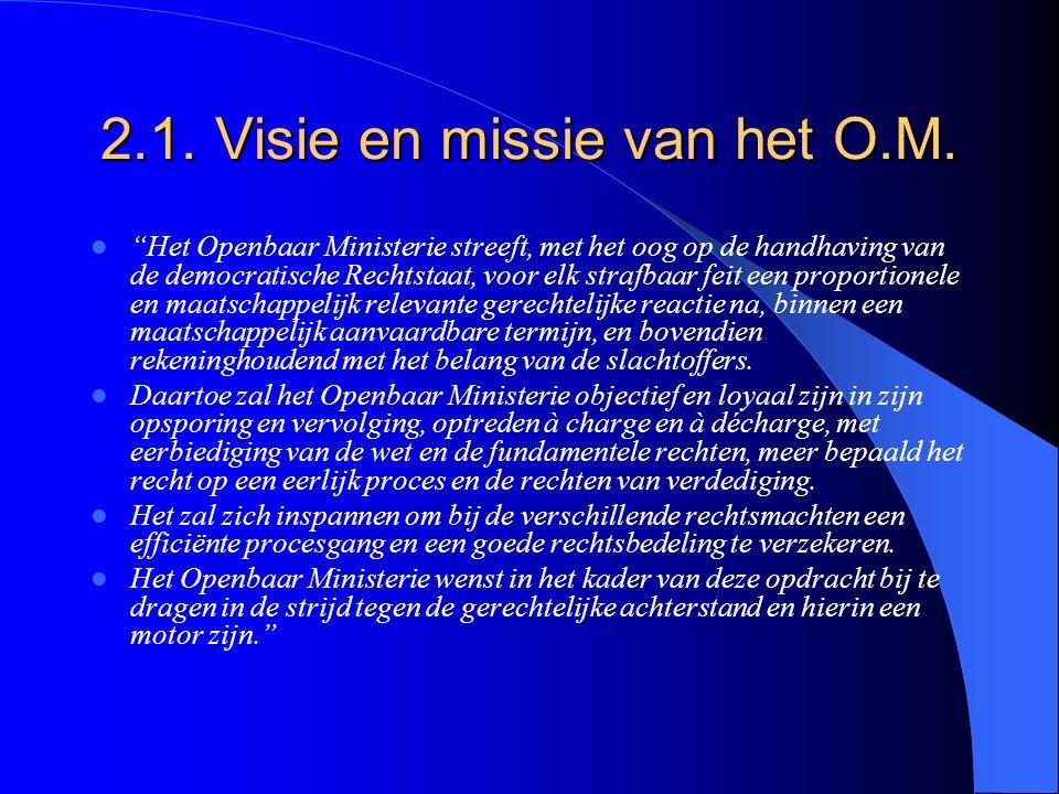 2.1. Visie en missie van het O.M.