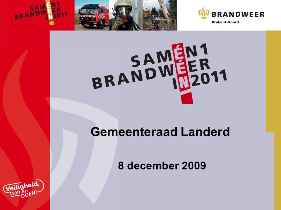 Wat is: 'Samen één brandweer in 2011' Waarom overdracht brandweerzorg Wat willen we bereiken De nieuwe organisatie Besluitvormingsproces Implementatie Communicatie Inhoud presentatie