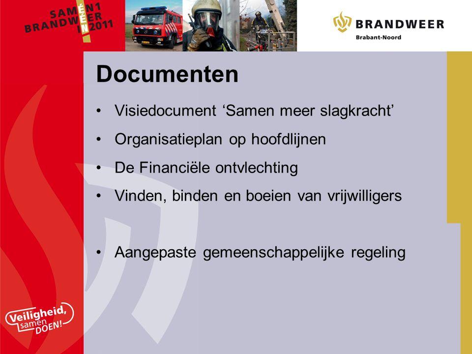 Visiedocument 'Samen meer slagkracht' Organisatieplan op hoofdlijnen De Financiële ontvlechting Vinden, binden en boeien van vrijwilligers Aangepaste