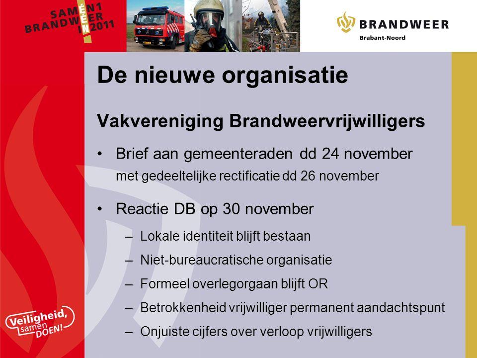 Vakvereniging Brandweervrijwilligers Brief aan gemeenteraden dd 24 november met gedeeltelijke rectificatie dd 26 november Reactie DB op 30 november –L