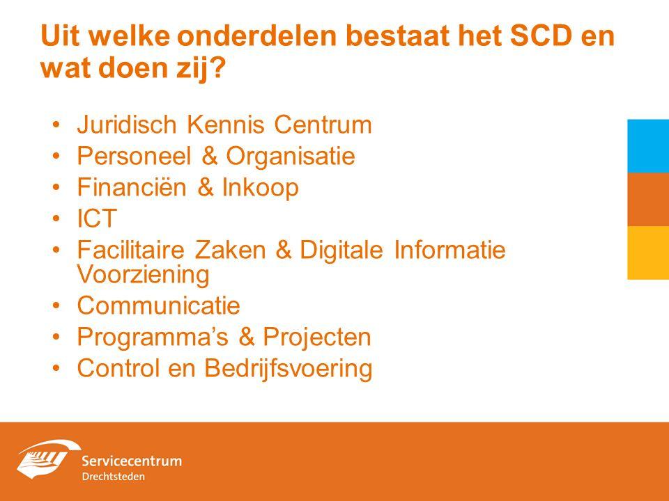 Uit welke onderdelen bestaat het SCD en wat doen zij.