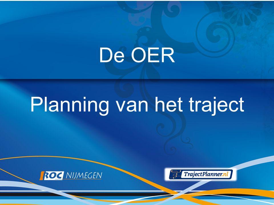 De OER Planning van het traject