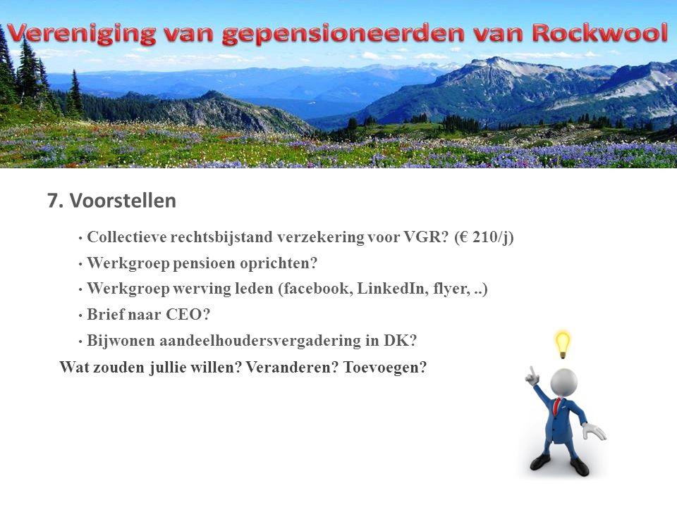7. Voorstellen Collectieve rechtsbijstand verzekering voor VGR.