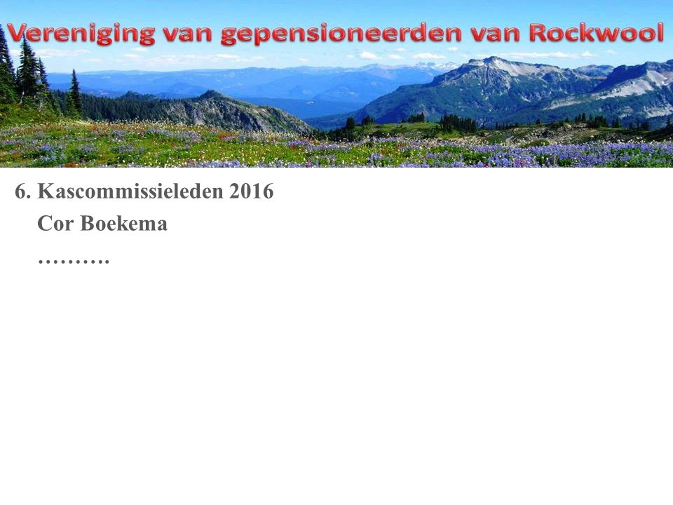 6. Kascommissieleden 2016 Cor Boekema ……….