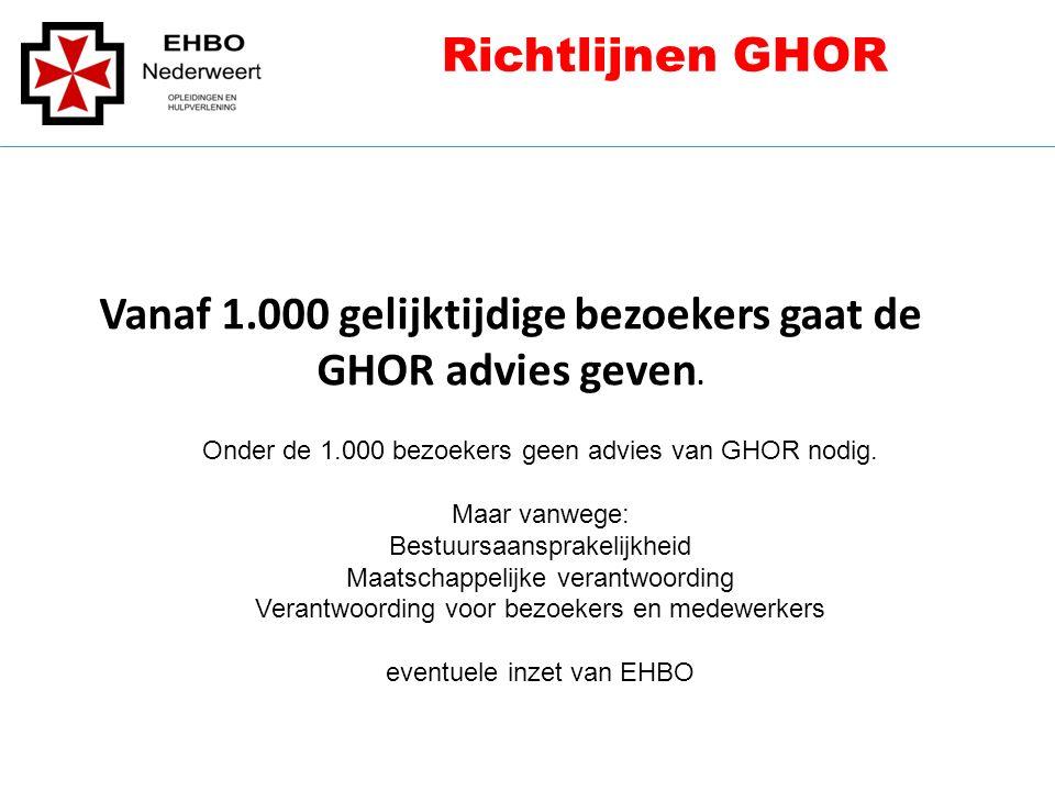 Vanaf 1.000 gelijktijdige bezoekers gaat de GHOR advies geven.