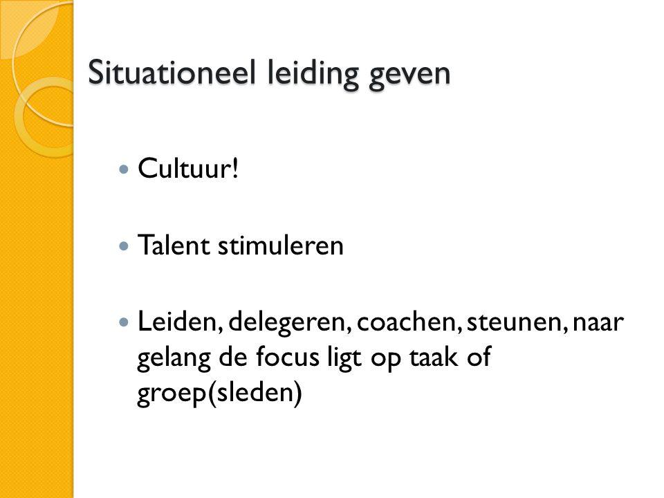 Situationeel leiding geven Cultuur.