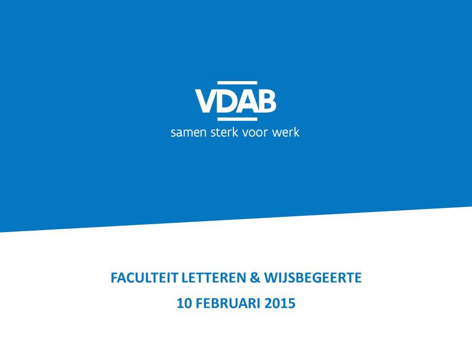 FACULTEIT LETTEREN & WIJSBEGEERTE 10 FEBRUARI 2015