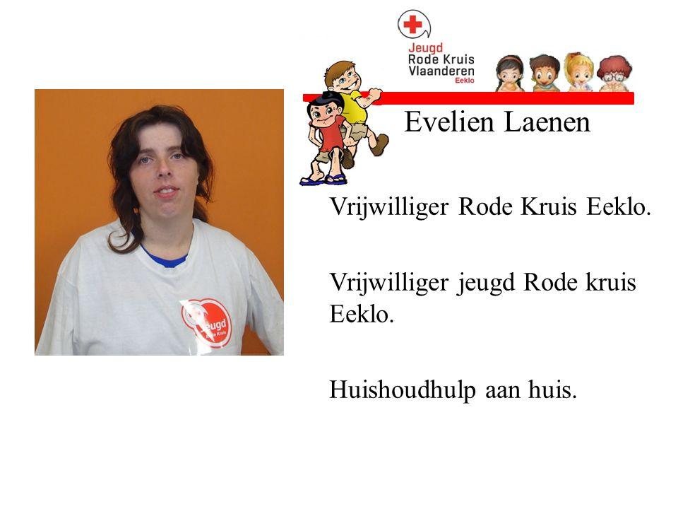 Evelien Laenen Vrijwilliger Rode Kruis Eeklo. Vrijwilliger jeugd Rode kruis Eeklo.