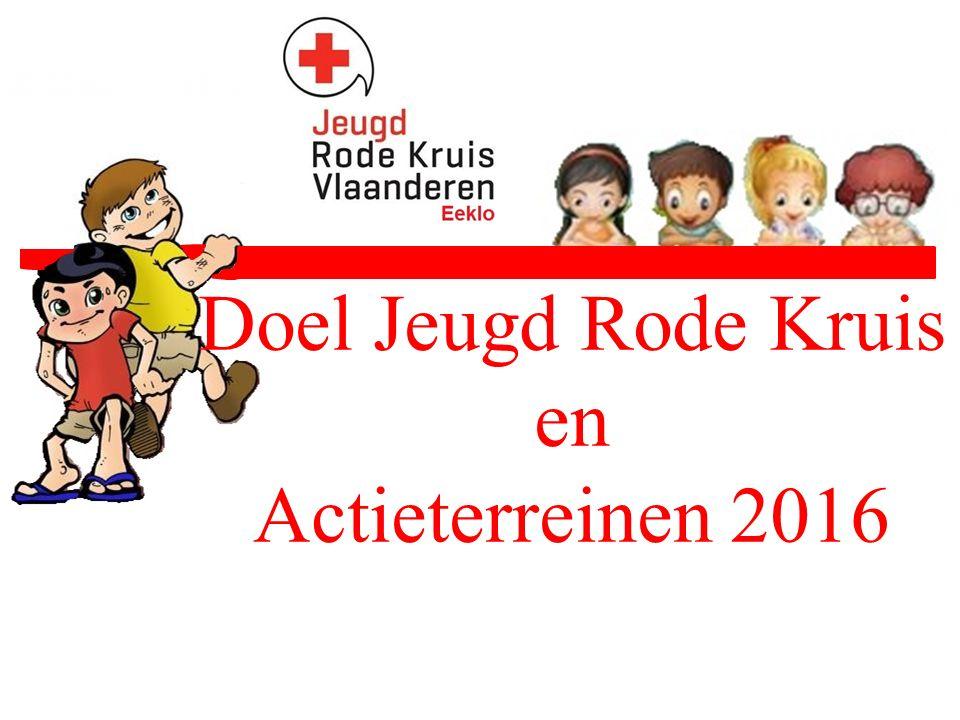 Doel Jeugd Rode Kruis en Actieterreinen 2016