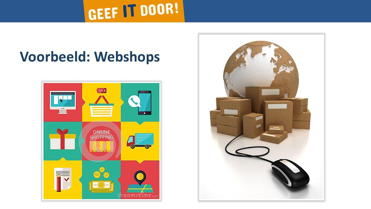 Voorbeeld: Webshops