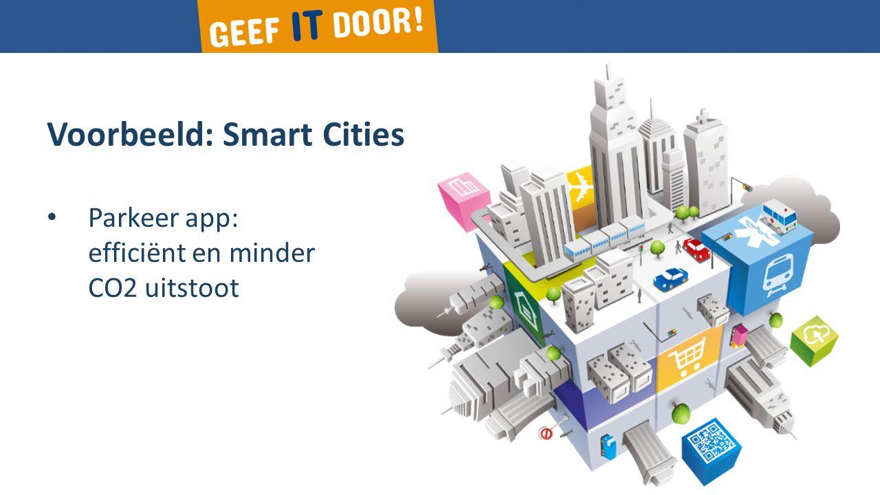 Voorbeeld: Smart Cities Parkeer app: efficiënt en minder CO2 uitstoot
