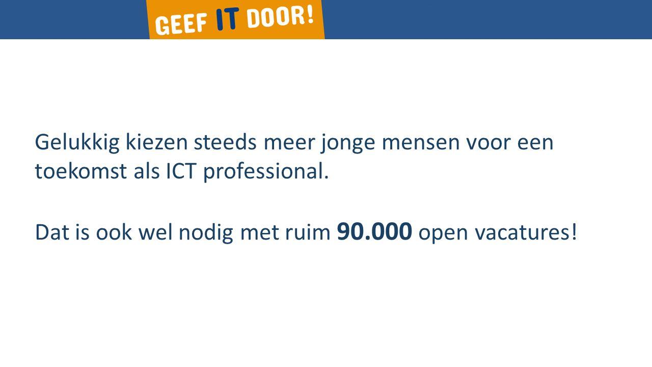 Gelukkig kiezen steeds meer jonge mensen voor een toekomst als ICT professional.