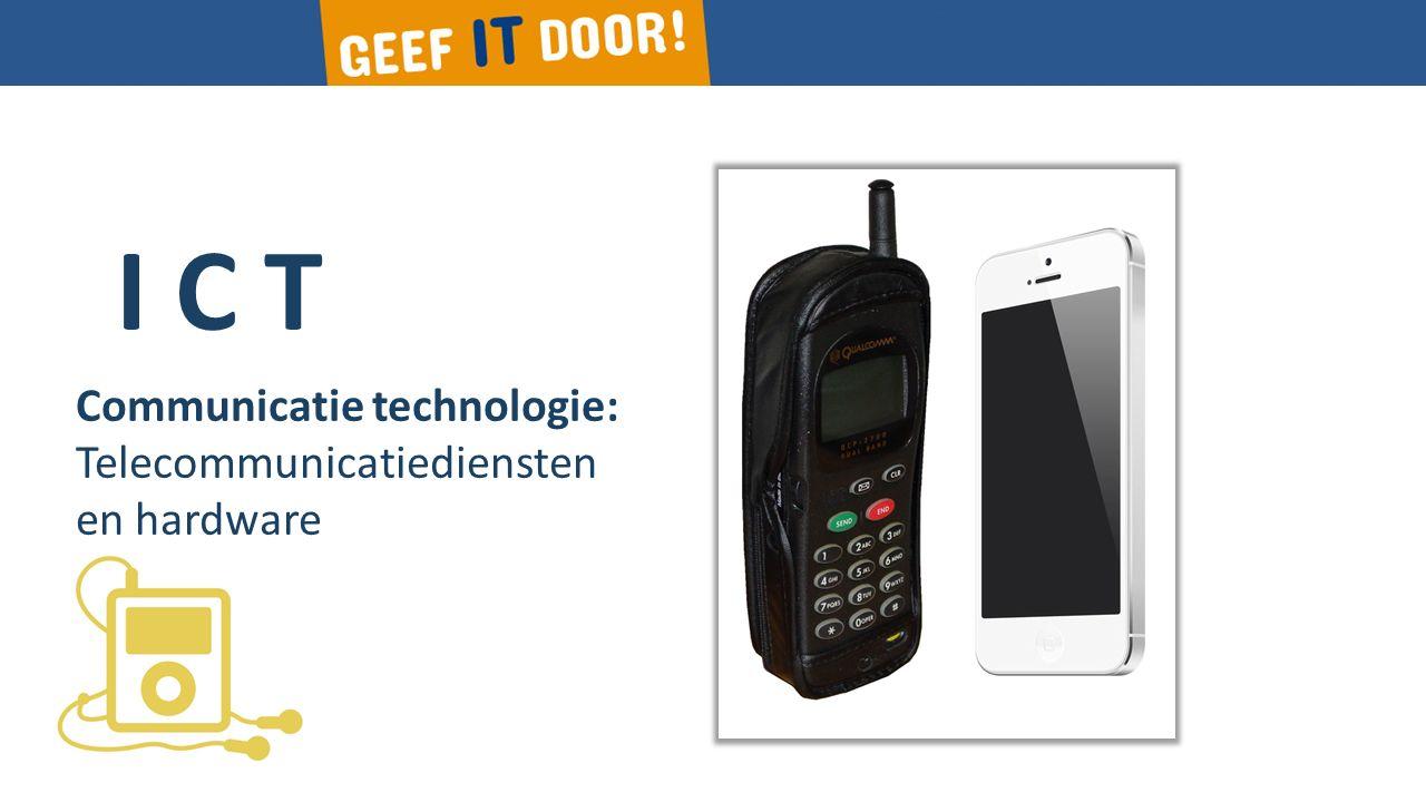I C T Communicatie technologie: Telecommunicatie-infrastructuur