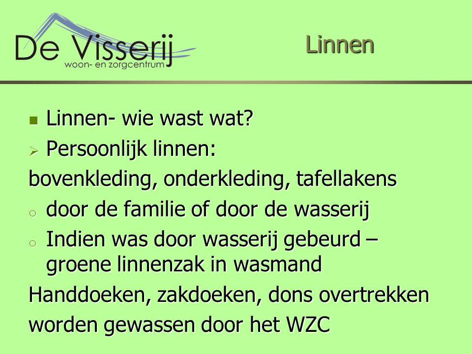 Linnen Linnen Linnen- wie wast wat. Linnen- wie wast wat.