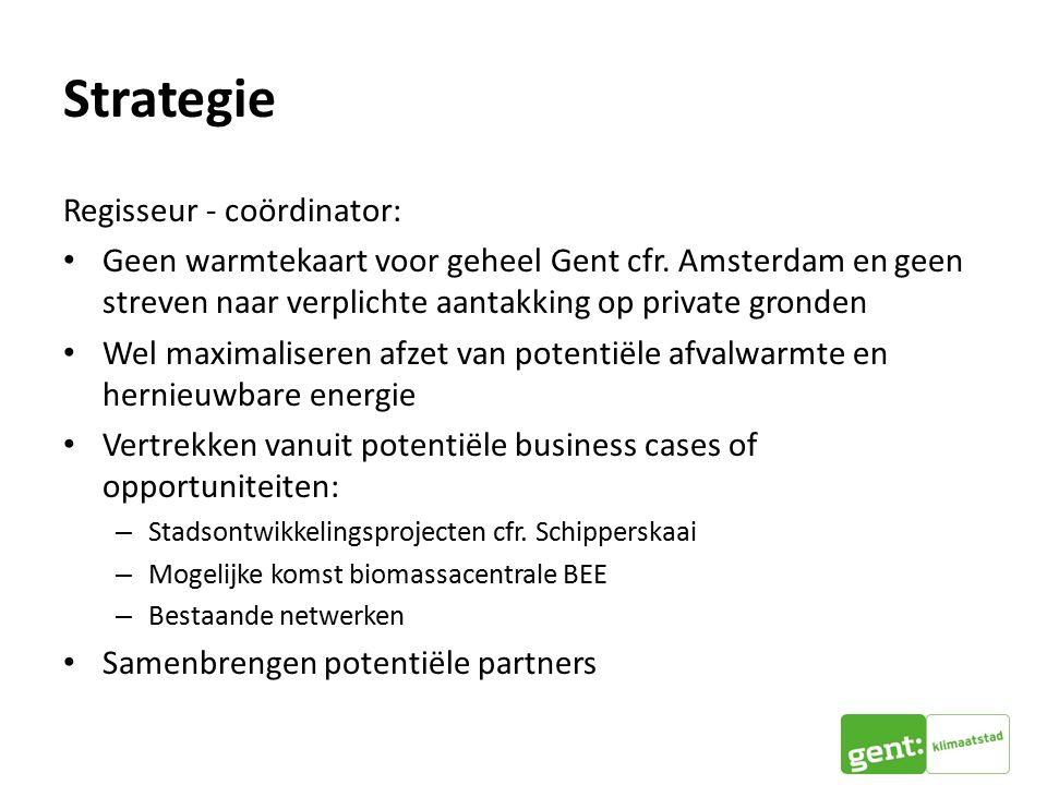 Strategie Regisseur - coördinator: Geen warmtekaart voor geheel Gent cfr.