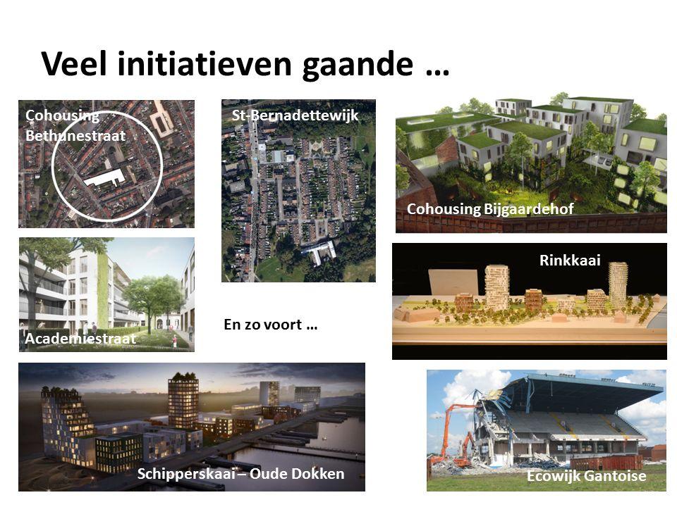 Cohousing Bethunestraat Cohousing Bijgaardehof Rinkkaai Ecowijk Gantoise St-Bernadettewijk Veel initiatieven gaande … Schipperskaai – Oude Dokken Academiestraat En zo voort …