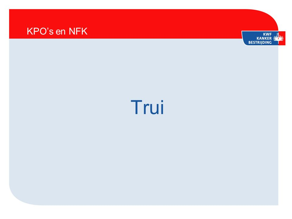 KPO's en NFK Trui