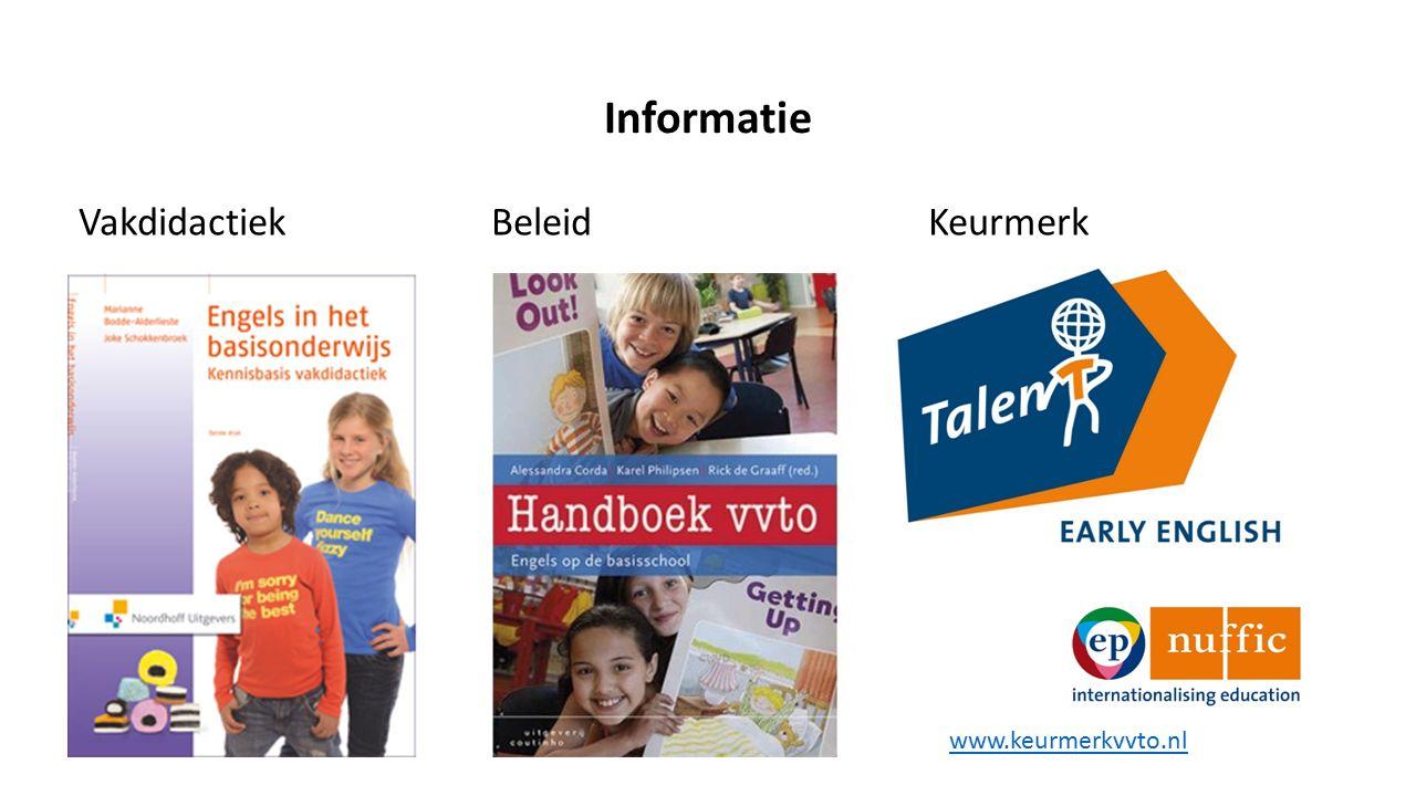 Informatie Vakdidactiek BeleidKeurmerk www.keurmerkvvto.nl