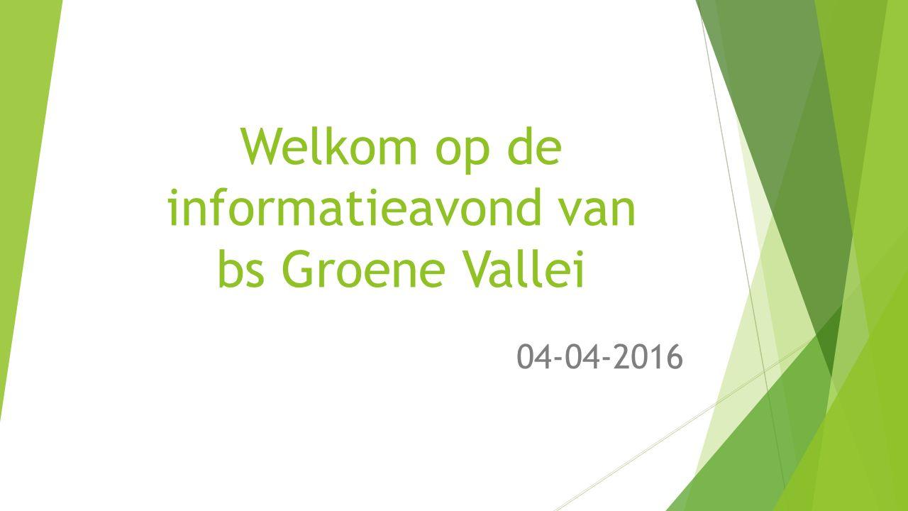 Welkom op de informatieavond van bs Groene Vallei 04-04-2016