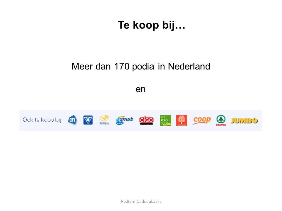 Podium Cadeaukaart Te koop bij… Meer dan 170 podia in Nederland en
