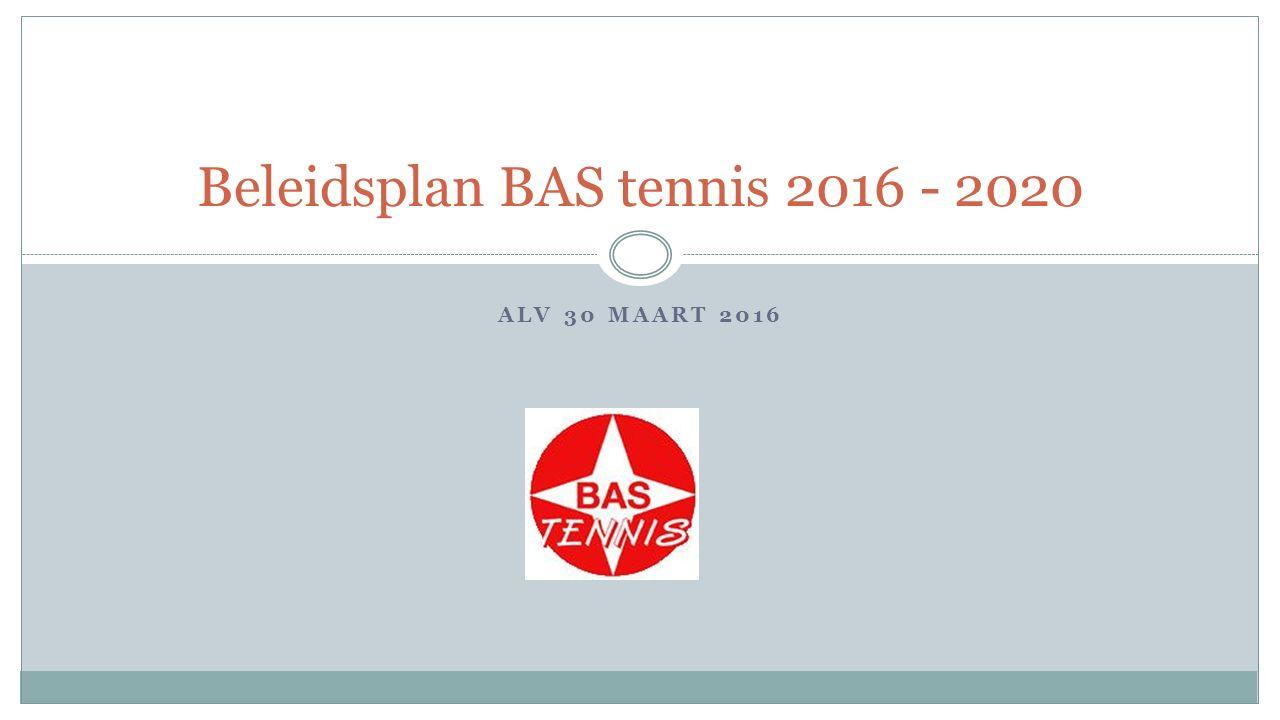 ALV 30 MAART 2016 Beleidsplan BAS tennis 2016 - 2020
