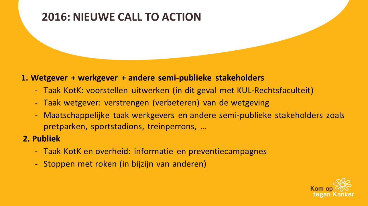 2016: NIEUWE CALL TO ACTION 1.