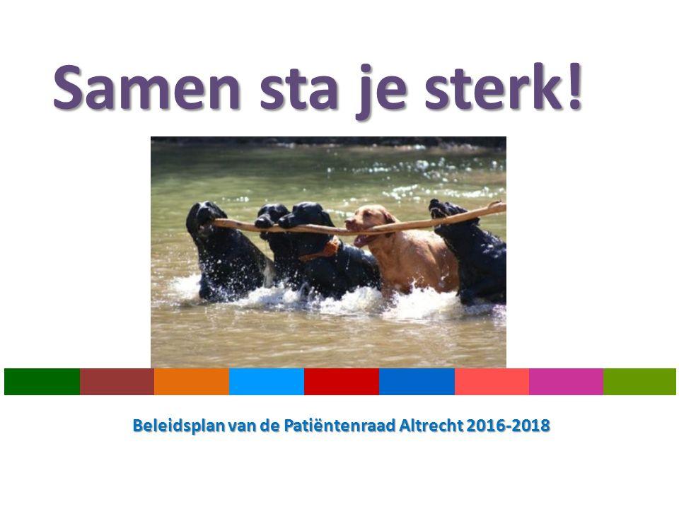 Samen sta je sterk! Beleidsplan van de Patiëntenraad Altrecht 2016-2018