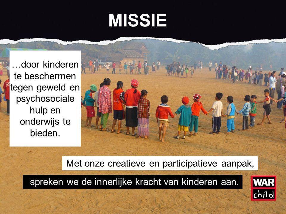…door kinderen te beschermen tegen geweld en psychosociale hulp en onderwijs te bieden.