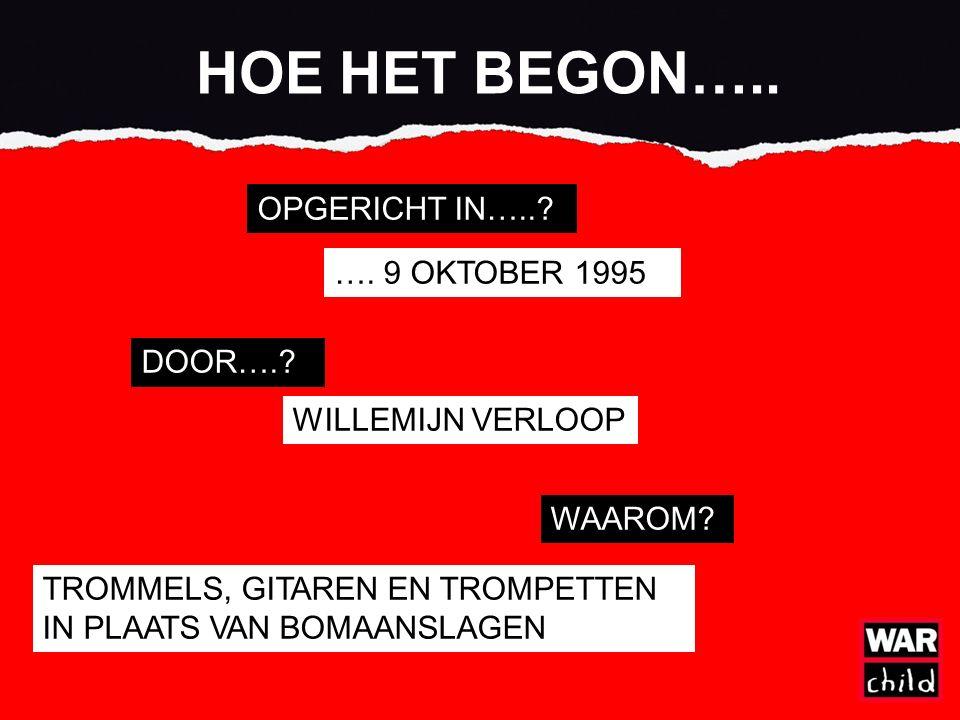 HOE HET BEGON….. OPGERICHT IN…... …. 9 OKTOBER 1995 DOOR…..