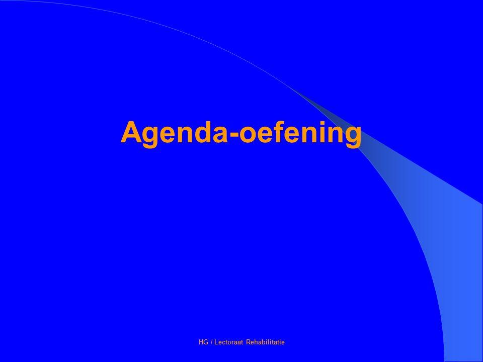 HG / Lectoraat Rehabilitatie Agenda-oefening