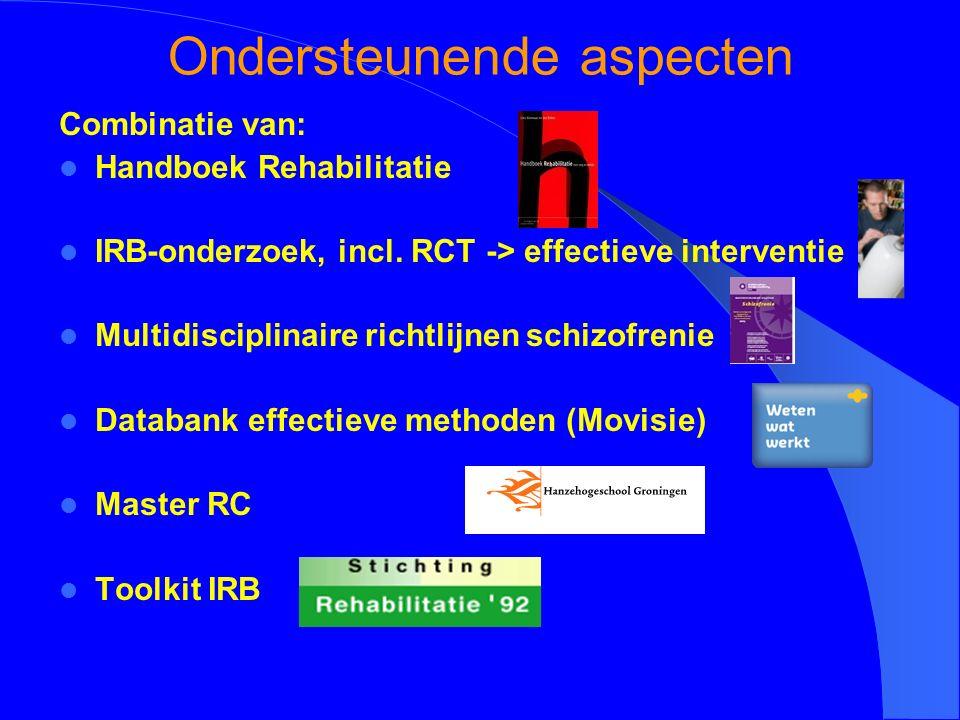 Ondersteunende aspecten Combinatie van: Handboek Rehabilitatie IRB-onderzoek, incl.