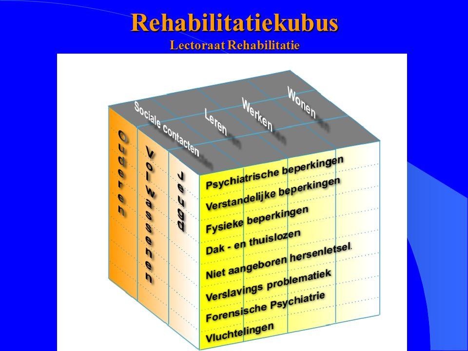Lectoraat Rehabilitatie, Hanzehogeschool Groningen Rehabilitatiekubus Lectoraat Rehabilitatie
