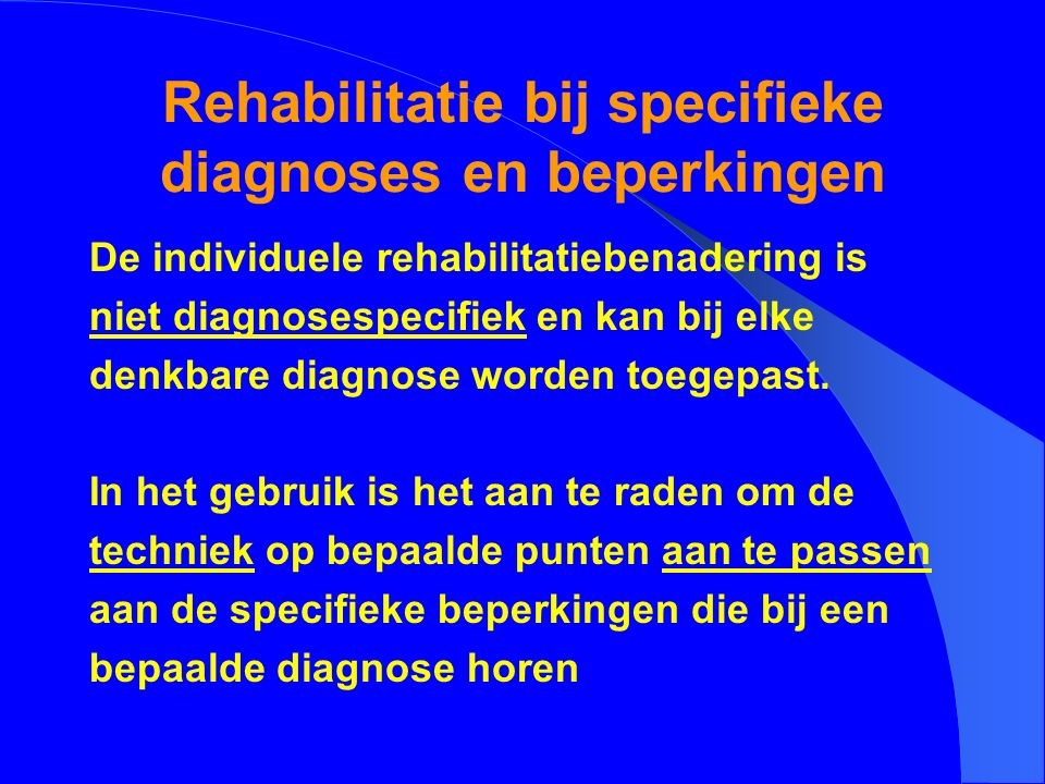 Wat is rehabilitatie?