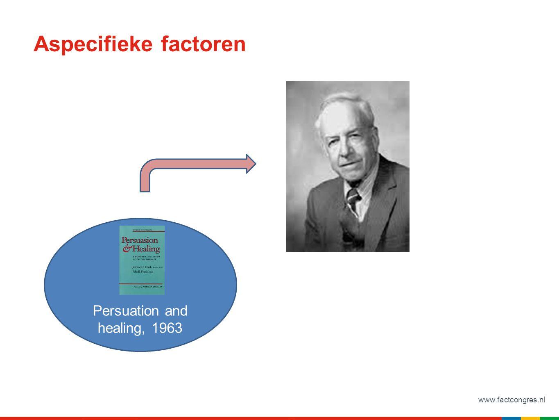 www.factcongres.nl Aspecifieke factoren Persuation and healing, 1963