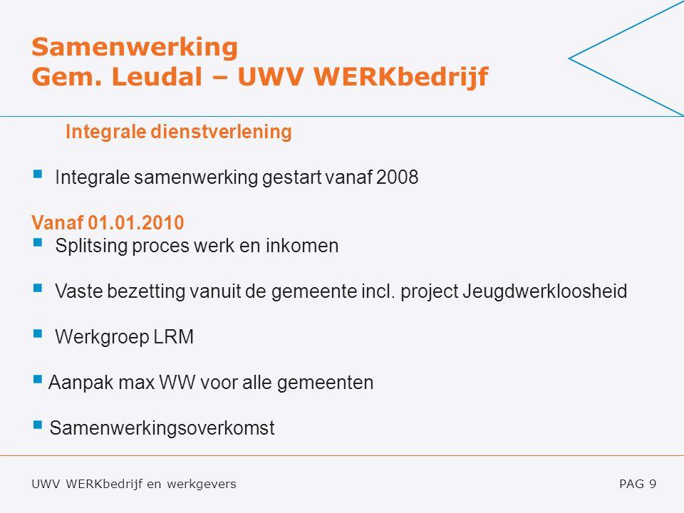 UWV WERKbedrijf en werkgeversPAG 9 Samenwerking Gem.