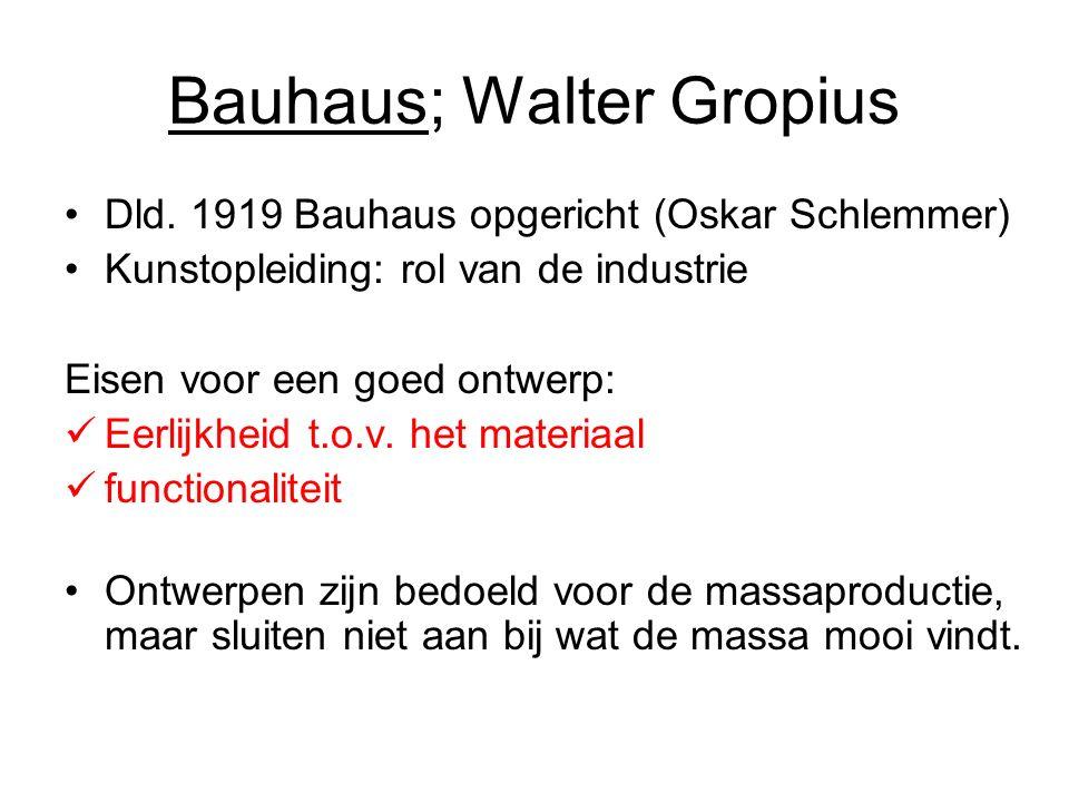 Bauhaus; Walter Gropius Dld.